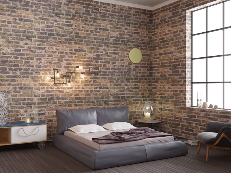 exposed bricks for the room.