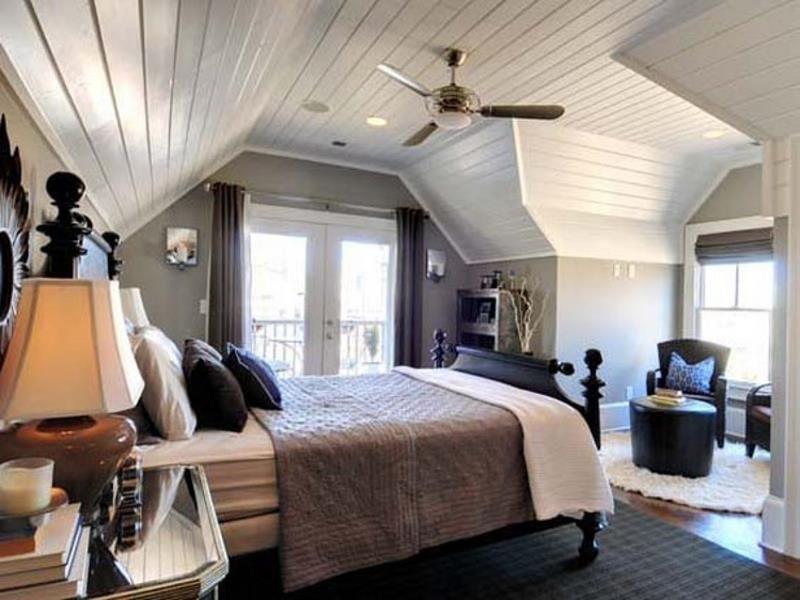 add ceiling fan for the attic bedroom.