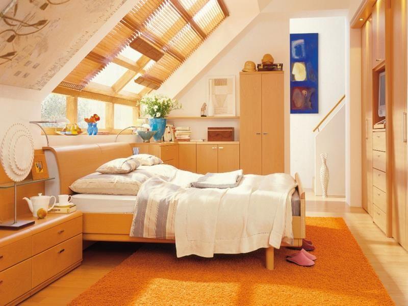 beautiful attic bedroom.