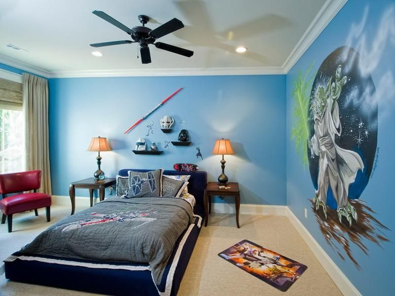 blue is perfect for the bedroom.