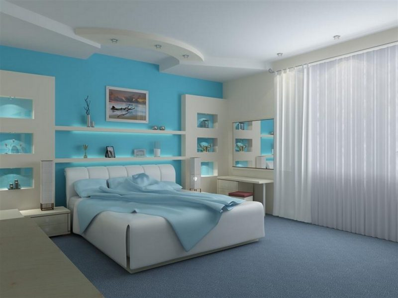 make your room sweeter by applying blue color.