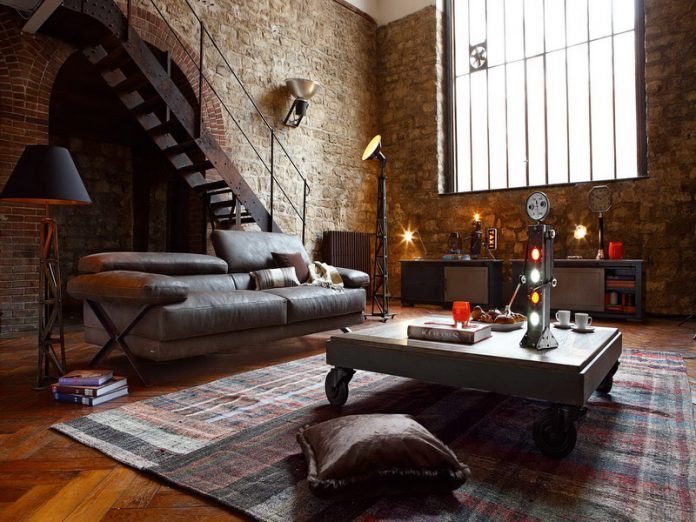 Make Your Living Room Look Attractive with Industrial Design