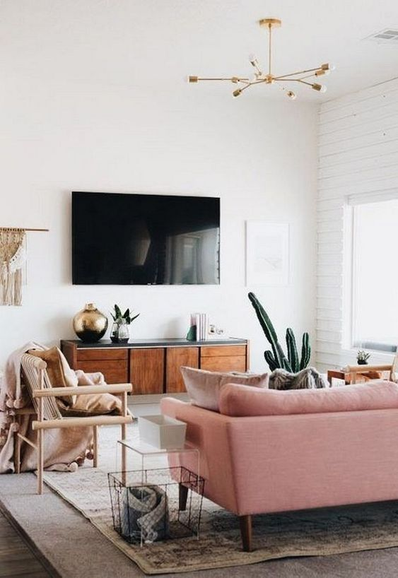 pastel color for Scandinavian living room.