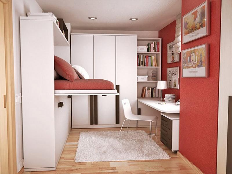 multifunctional furniture for the petite bedroom.