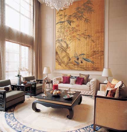 oriental displays to fill the wall.