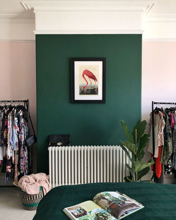 Jungle Green for the bedroom.