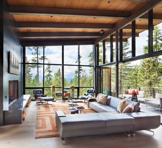 use big windows for the living room.