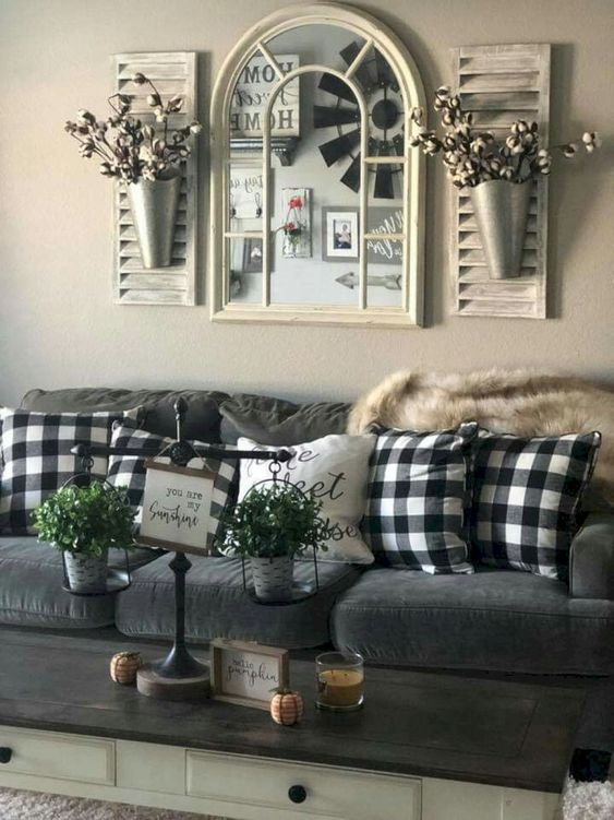 Make the living room look sweeter.