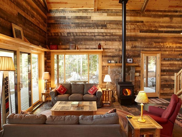 Make A Wonderful Living Room with Rustic Style