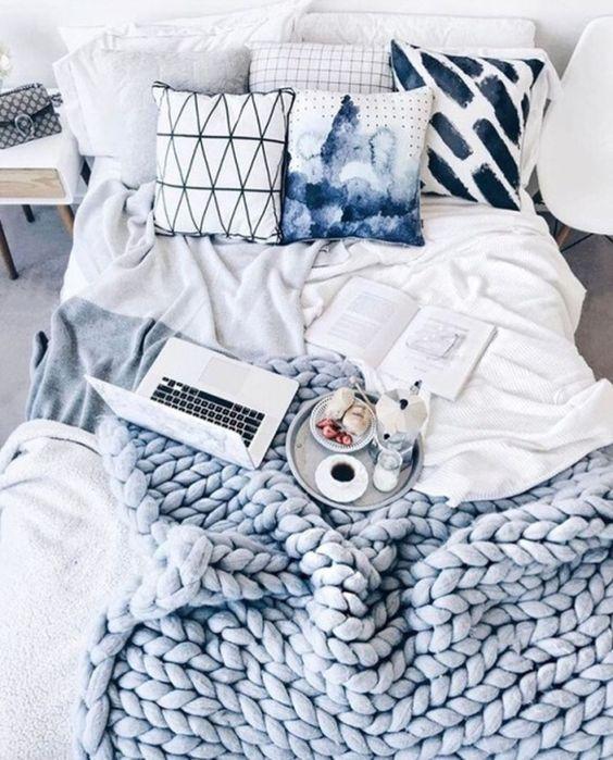 get white bedding.