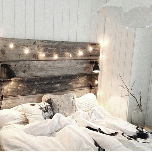 add string light to the room.