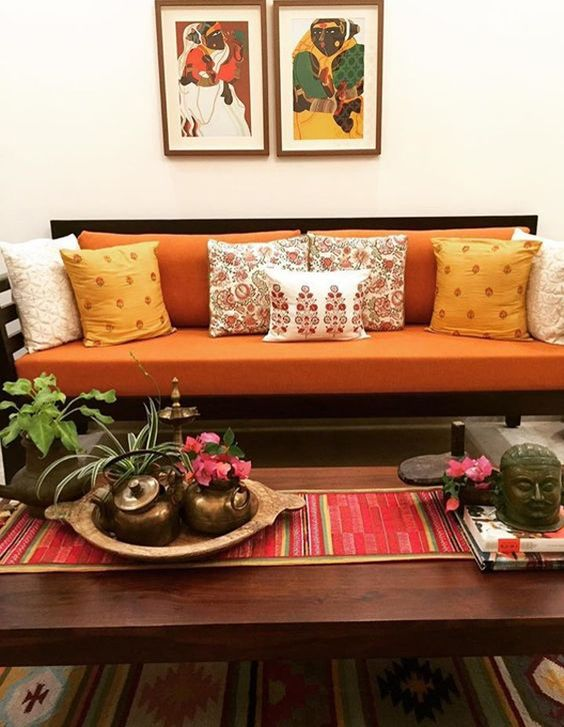 aesthetic indian living room on budget