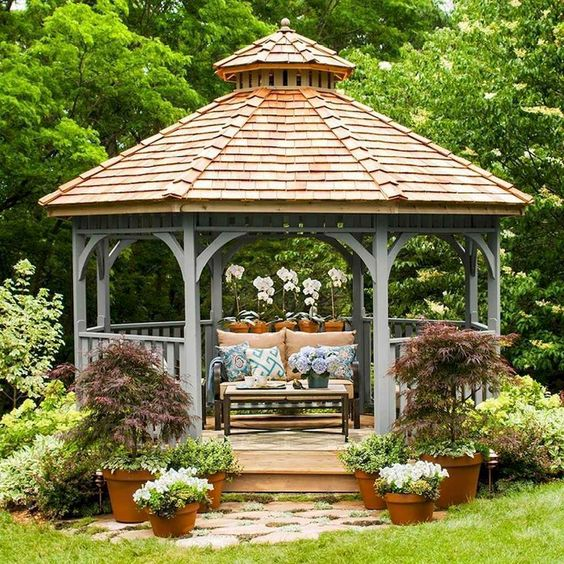 beautiful wooden gazebo