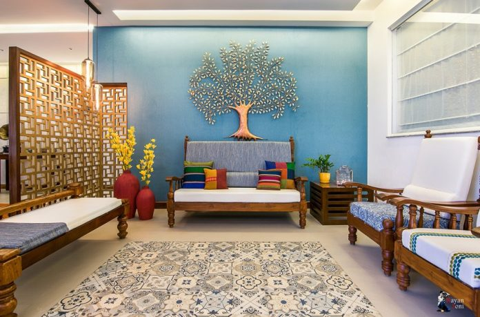 low budget indian living room interior