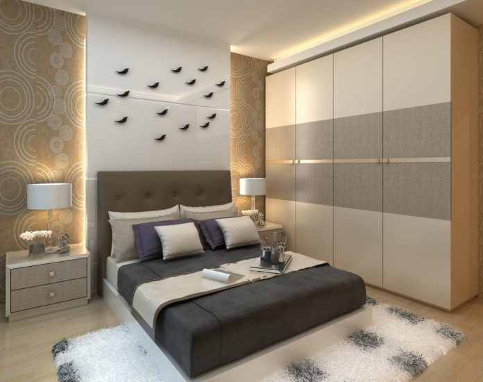 modern bedroom ideas with wardrobe