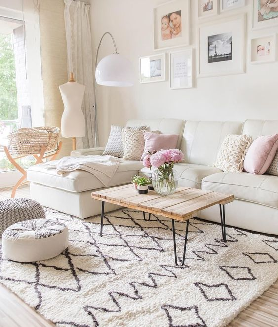 beautiful living room with pastel color