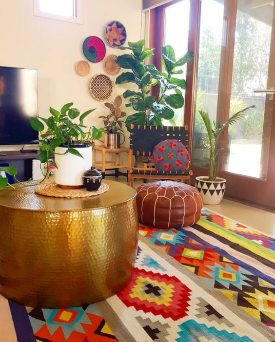 simple indian living room