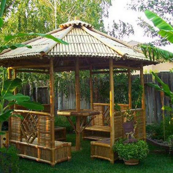 unique wooden gazebo