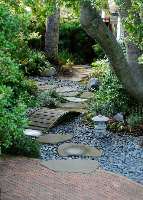 beautiful natural backyard garden