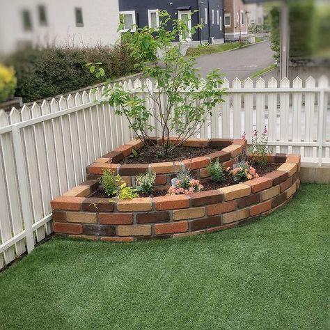 brick garden bed decoration