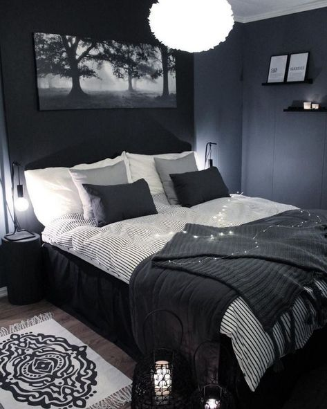 cool masculine bedroom wall decoration