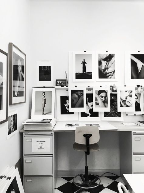 cozy monochrome office