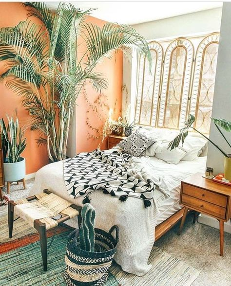 elegant bohemian bedroom