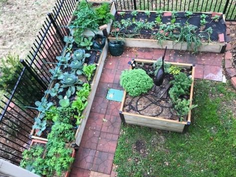 garden bed decoration with fence