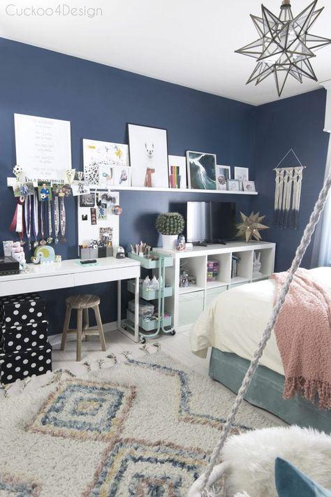 girls blue bedroom