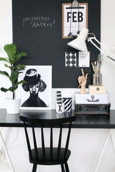 inspiring monochrome office