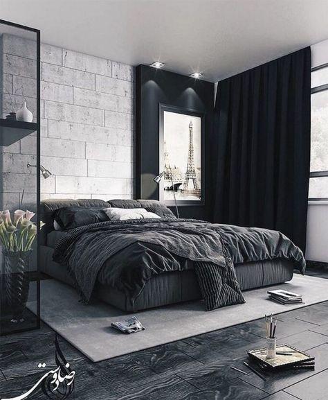 masculine men bedroom wall
