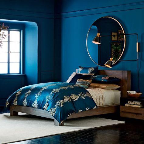 men blue bedroom