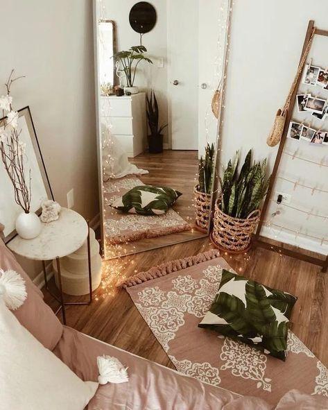 minimalist bohemian bedroom