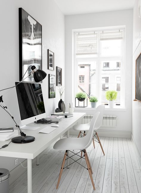minimalist monochrome office