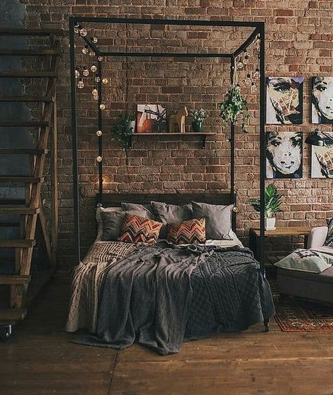 modern industrial bedroom