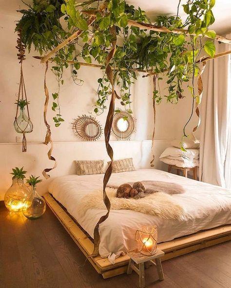 natural bohemian bedroom