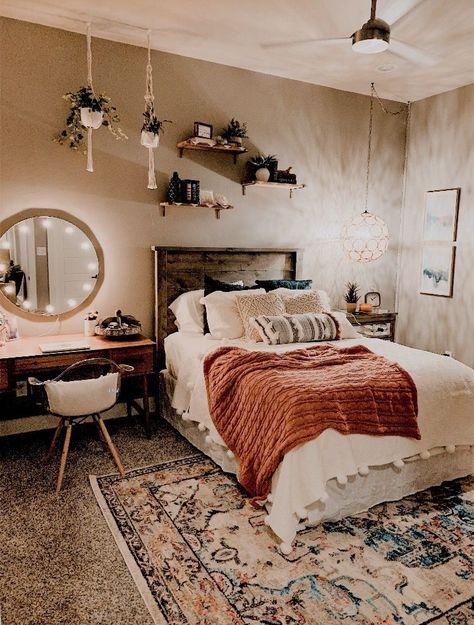 romantic bohemian bedroom