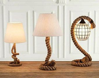 rustic lampshade table