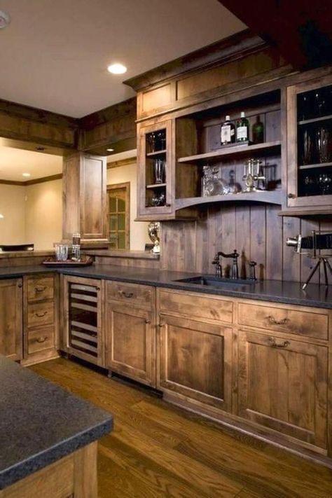 simple rustic kitchen