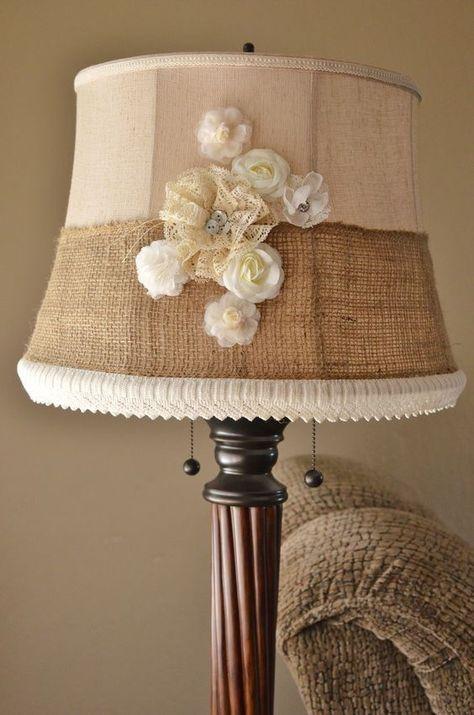 modern rustic lampshade