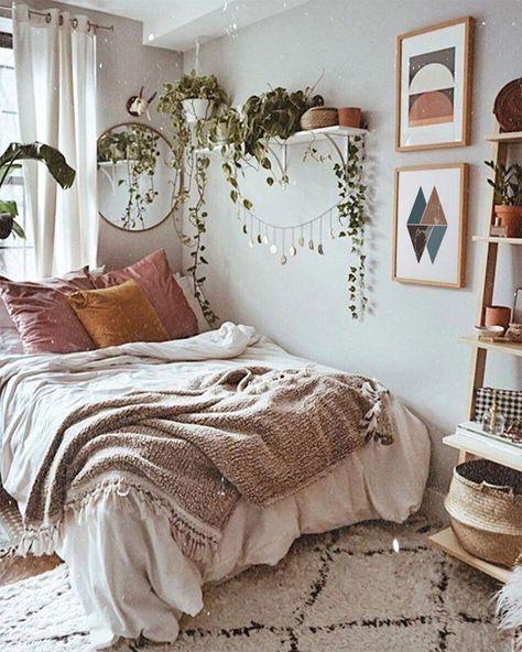 turqoise bohemian bedroom
