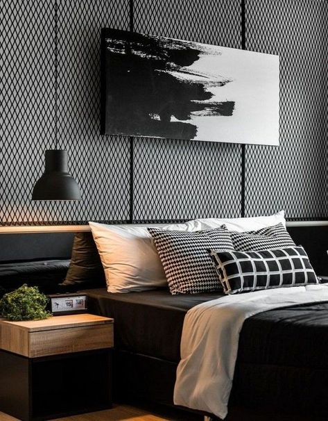 wall decoration for masculine bedroom