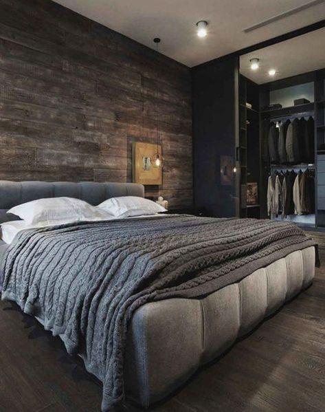 wall texture for masculine men bedroom