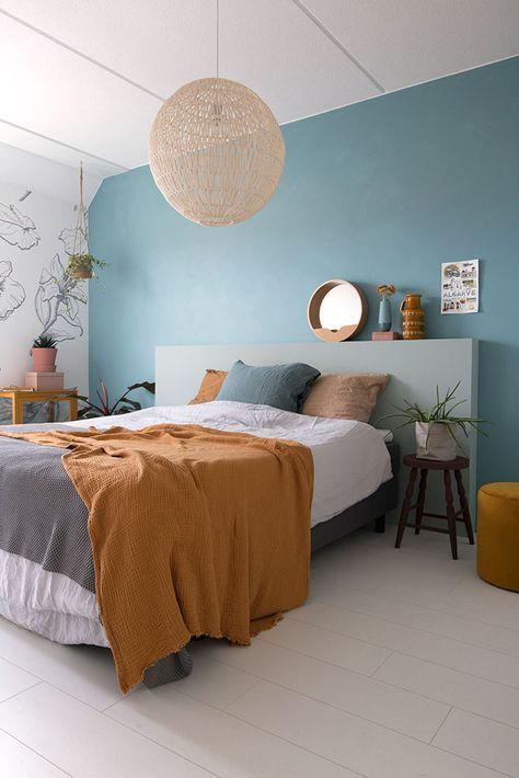 wonderful blue bedroom