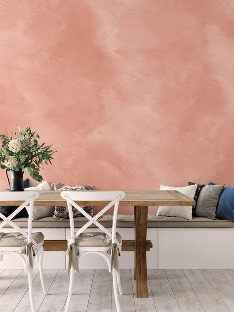 bohemian peach wall texture