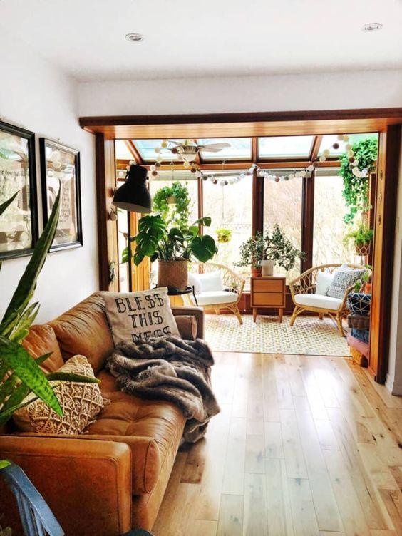 bright bohemian living room