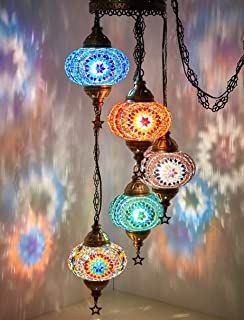 colorful bohemian hanging lamp