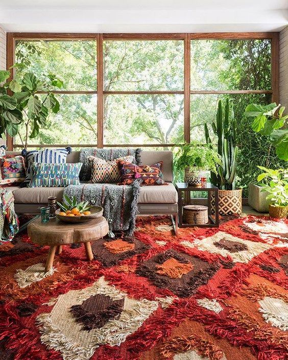 country bohemian living room