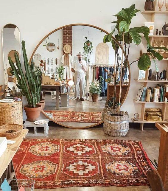 cultural bohemian living room