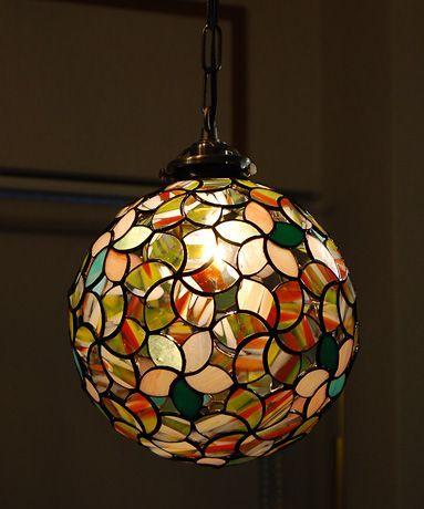 glossy bohemian hanging lamp